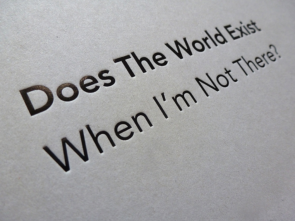 Detail of Simon Faithfull – Does The World Exist When I'm Not There?