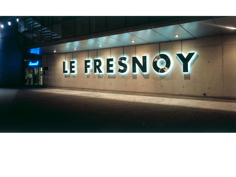 Detail of Le Fresnoy, studio national des arts contemporains –<br/>signage