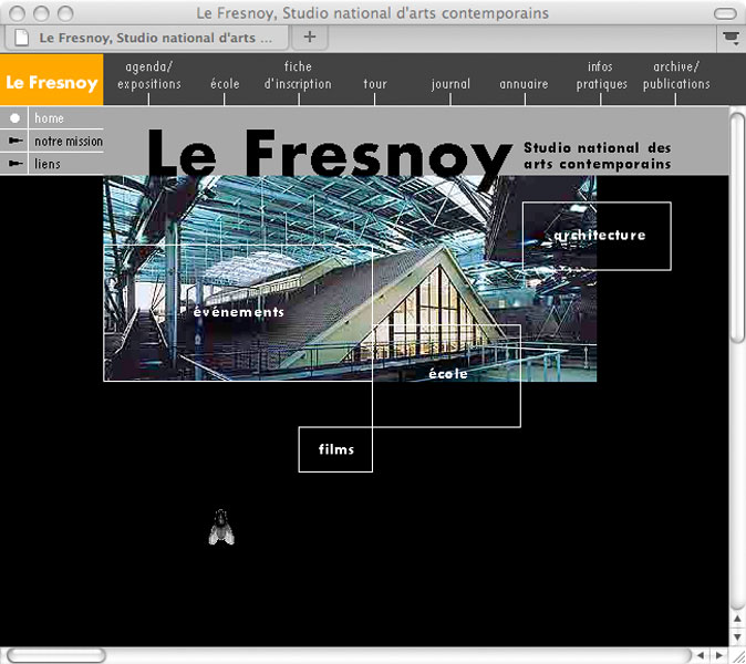 Detail aus Le Fresnoy, studio national des arts contemporains –<br/>website
